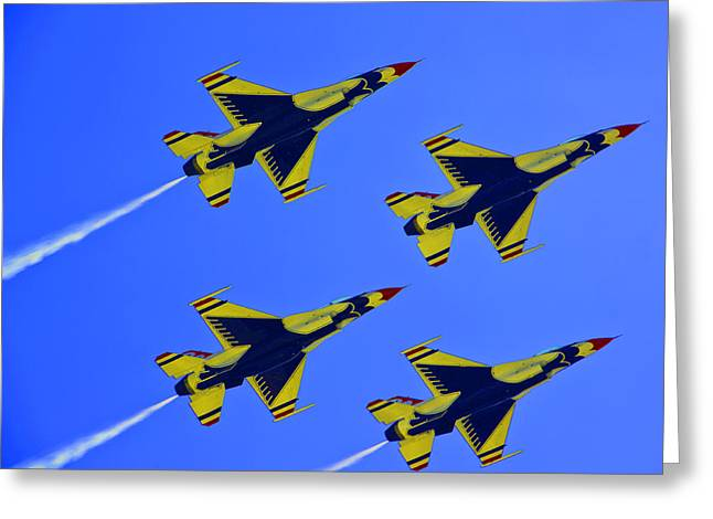 Thunderbirds Ascending Greeting Card by Michael Wilcox