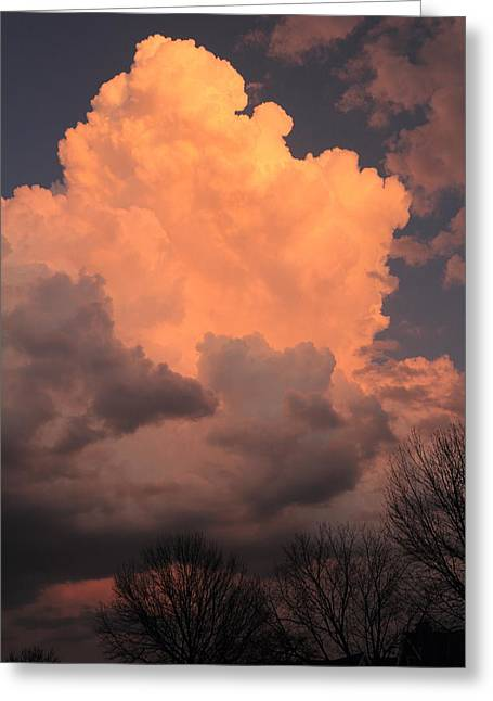 Greeting Card featuring the photograph Thunderhead In Twilight by Scott Rackers