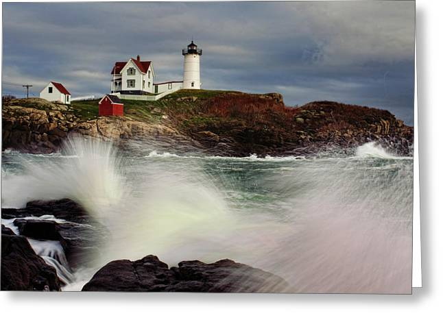 Thundering Tide Greeting Card by Rick Berk