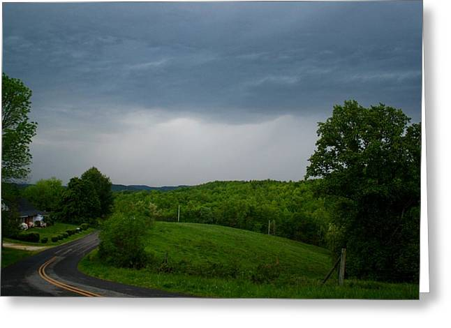 Greeting Card featuring the photograph Thunderstorm by Kathryn Meyer