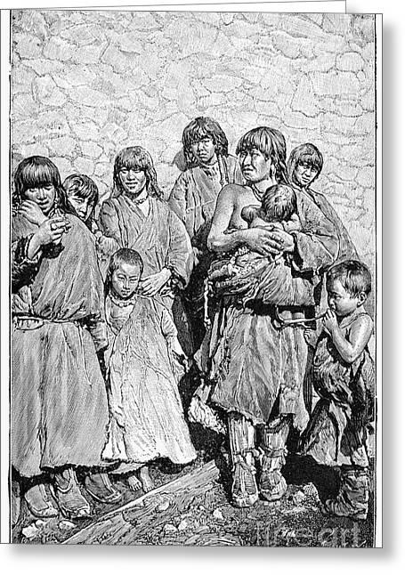 Tibetan Family Greeting Card
