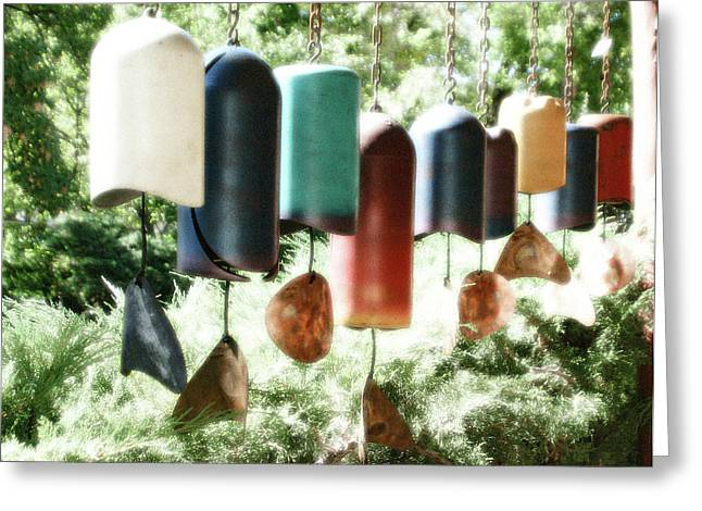 Tibetan Wind Chimes Greeting Card by Heidi Hermes