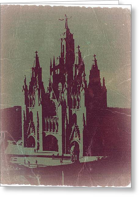 Tibidabo Barcelona Greeting Card by Naxart Studio