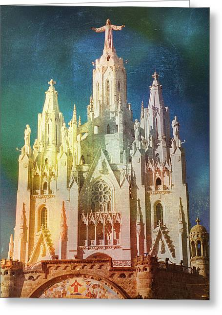 Greeting Card featuring the photograph Tibidabo by Rod Jones