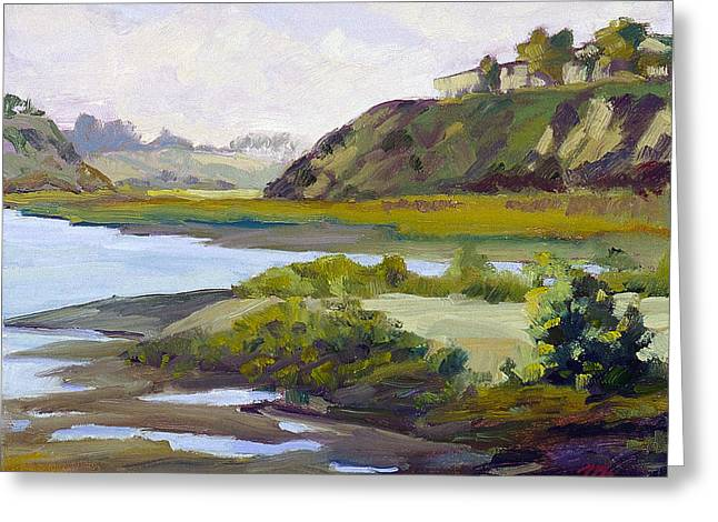 Tidal Back Bay Greeting Card by Mark Lunde