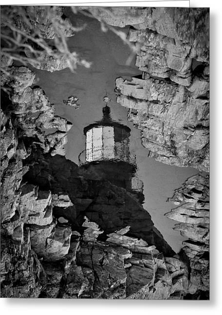 Tidal Pool Reflection Greeting Card by Robert Clifford