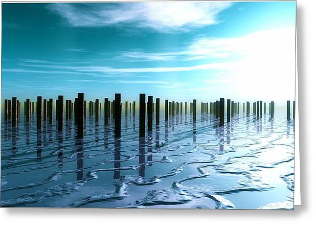 Tide Is Out... Greeting Card