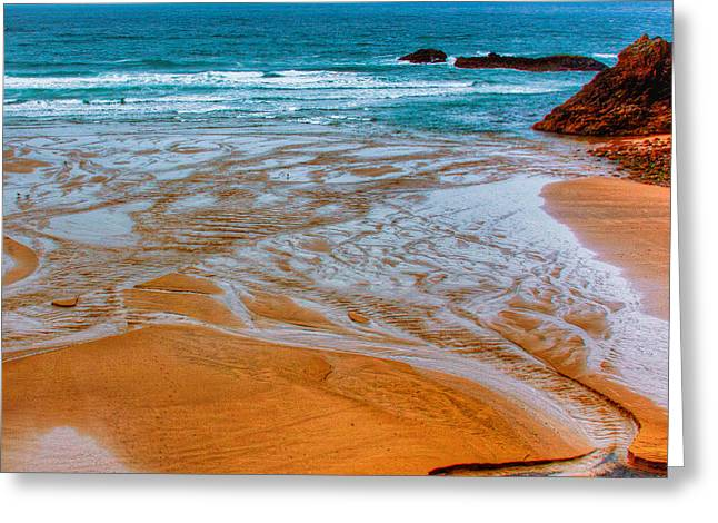 Tide Pools Greeting Card by David Patterson