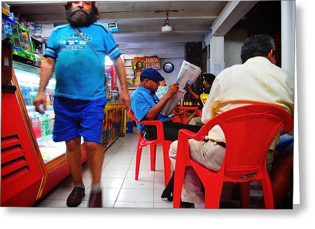 Tienda El Che Greeting Card by Skip Hunt