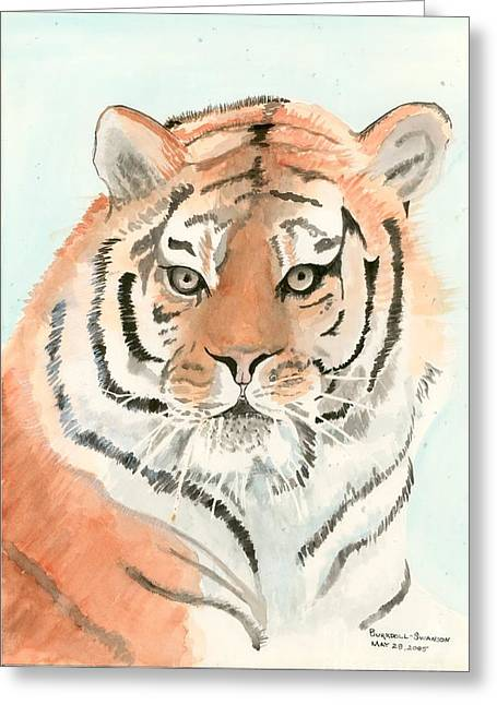 Tiger 1 Greeting Card by Delores Swanson