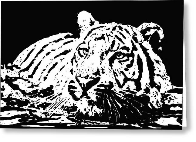 Tiger 2 Greeting Card by Lori Jackson