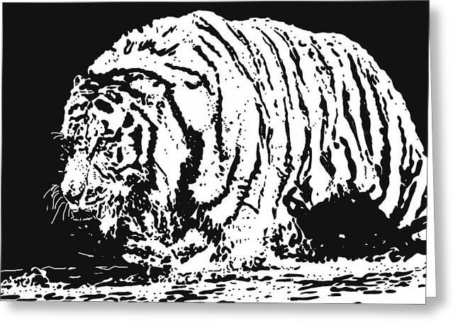 Tiger 3 Greeting Card by Lori Jackson