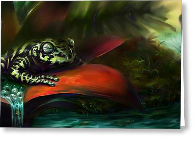 Tiger Frog Greeting Card by Rephfy