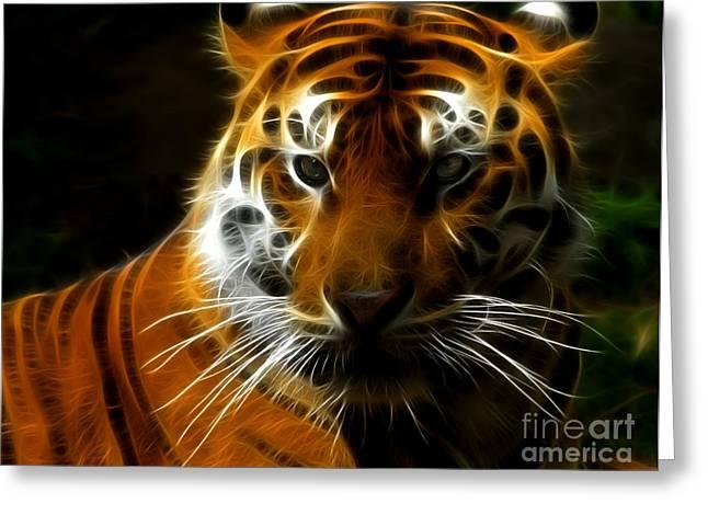 Tiger Portrait Greeting Card by Katja Zuske