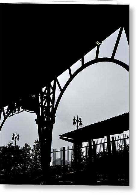 Tiger Stadium Silhouette Greeting Card by Michelle Calkins