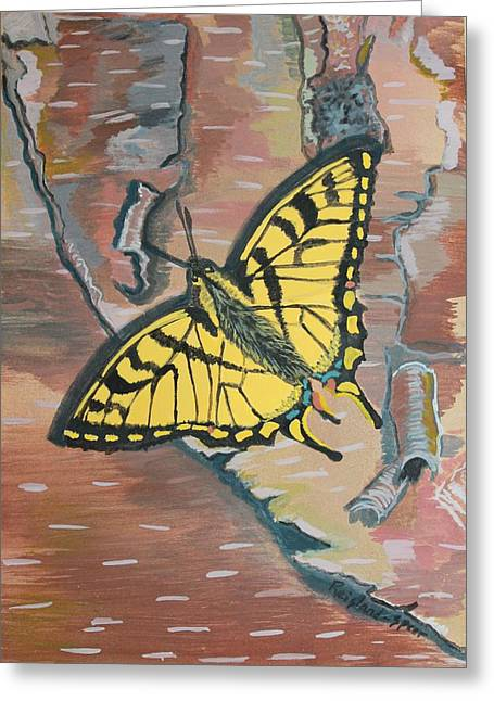Tiger Swallowtail Greeting Card by Amy Reisland-Speer