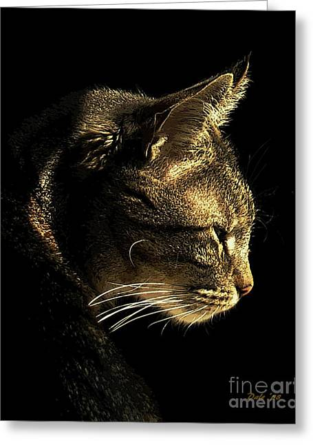 Tiger Within Greeting Card by Dale   Ford