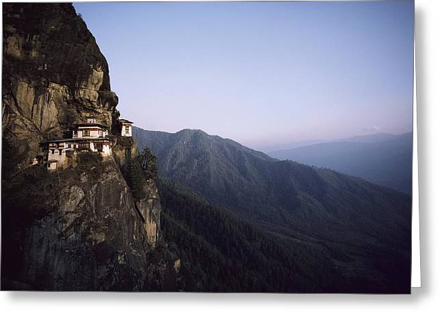 Tigers Den, A Buddhist Monastery Greeting Card by Paul Chesley