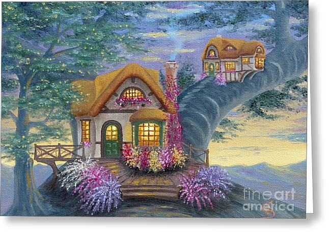 Tig's Cottage From Arboregal Greeting Card