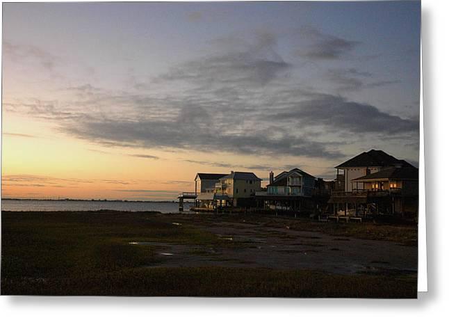 Tiki Island Sunrise Greeting Card