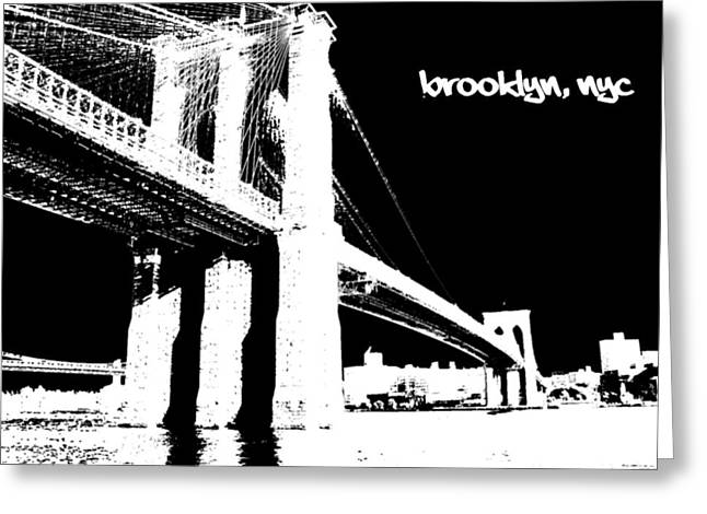 till Brooklyn Greeting Card by Deso Nellski