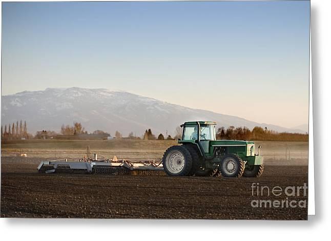 Tilling The Soil Greeting Card
