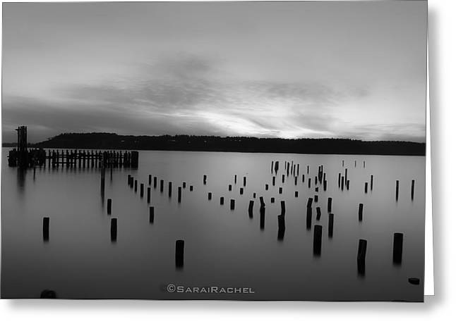 Tiltow Beach  In Black And White Greeting Card by Sarai Rachel