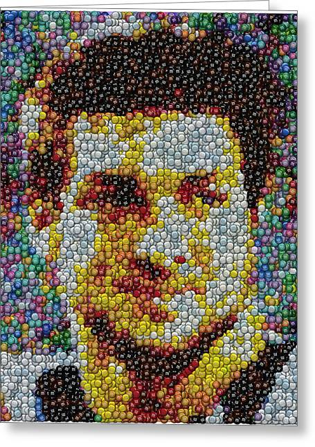 Tim Tebow Mms Mosaic Greeting Card by Paul Van Scott