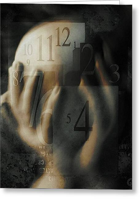 Time Confusion Greeting Card by Gun Legler