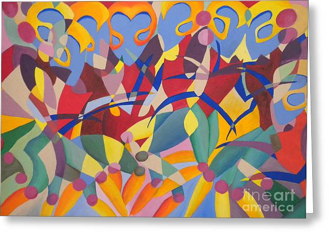 Time Dancer Greeting Card by Silvie Kendall