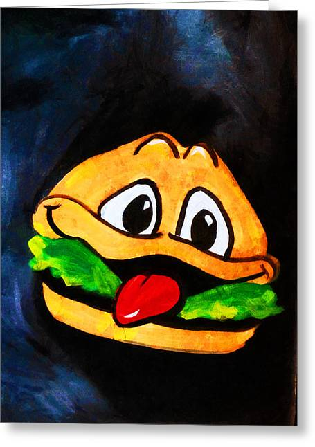 Time For A Happy Burger Greeting Card