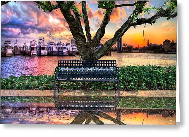 Time For Reflection Greeting Card by Debra and Dave Vanderlaan