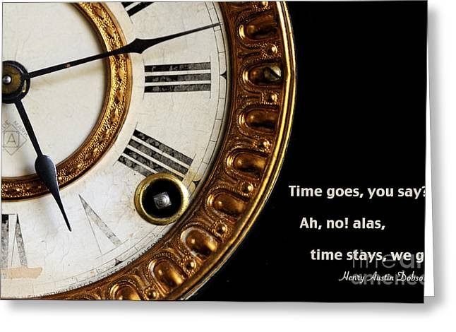 Time Goes... Greeting Card by Nancy Greenland