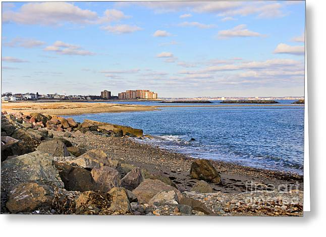 Time-honored New England Coast Greeting Card by Extrospection Art