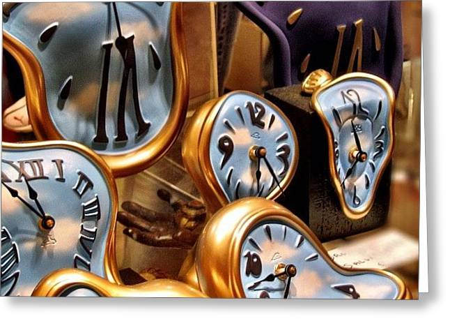 Time Is Melting Away #clocks #clocks Greeting Card by A Rey