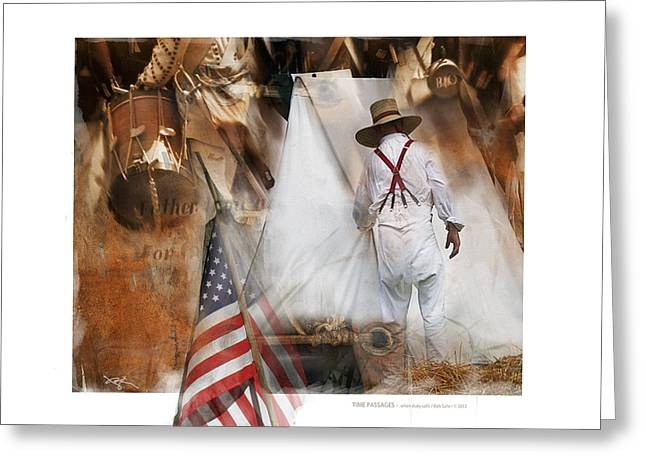Time Passages - Encampment -1812 Greeting Card by Bob Salo