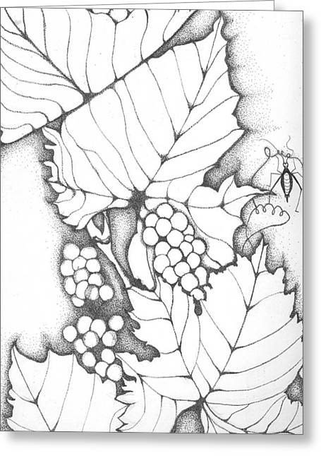 Time To Make Wine Greeting Card by Sheba Goldstein