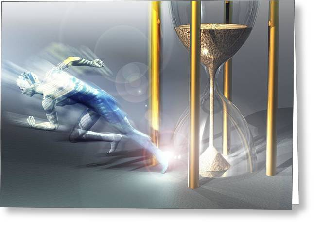 Time Travel, Conceptual Artwork Greeting Card by Laguna Design