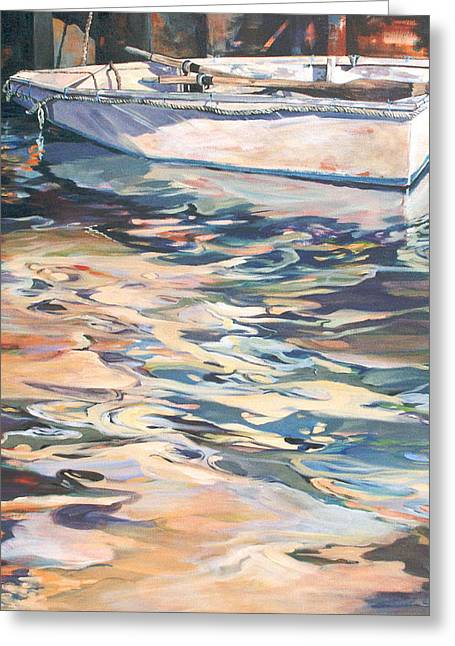 Greeting Card featuring the painting Time Worn Relic by Rae Andrews