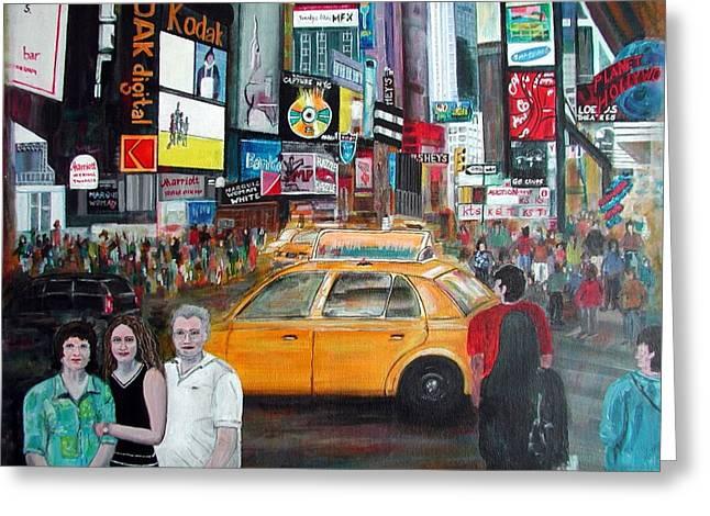 Times Square Greeting Card by Anna Ruzsan