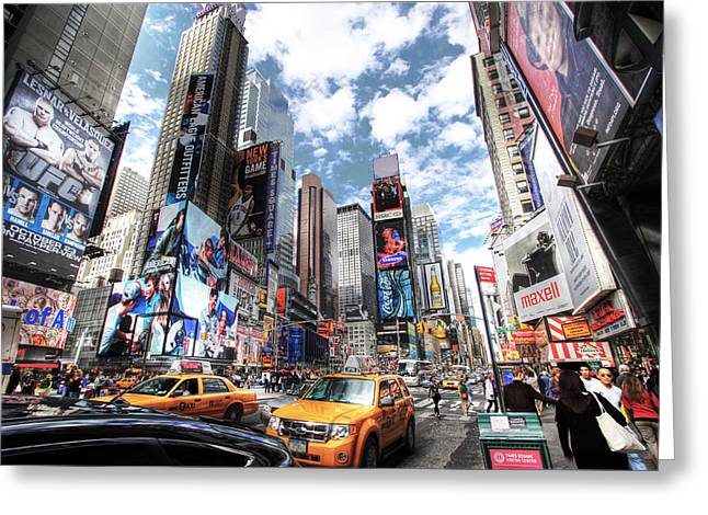 Times Square Greeting Card by Kean Poh Chua