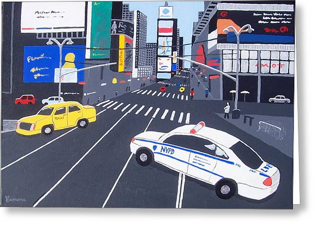 Times Square New York Greeting Card by Eamon Reilly