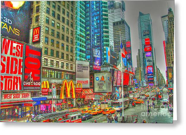 Times Square One Greeting Card