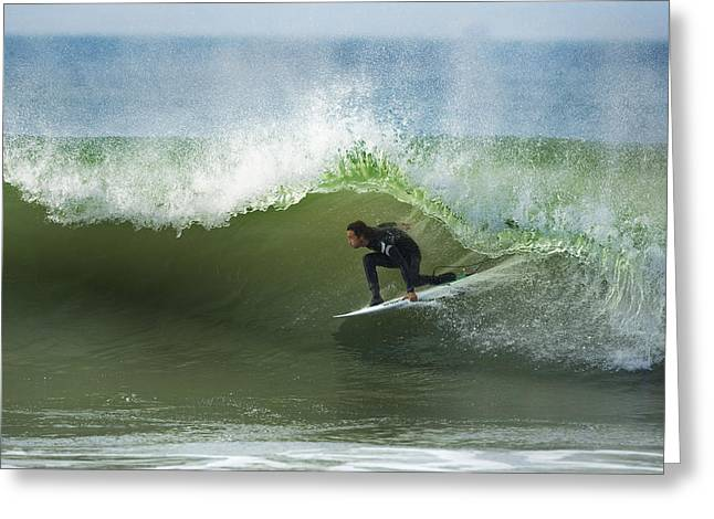 Timmy Curren Green Room Greeting Card by Steve Munch