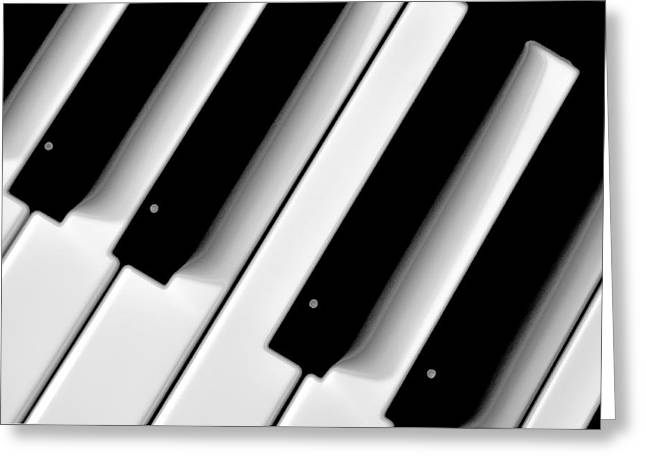 Tinkling The Ivories Greeting Card by Bill Cannon