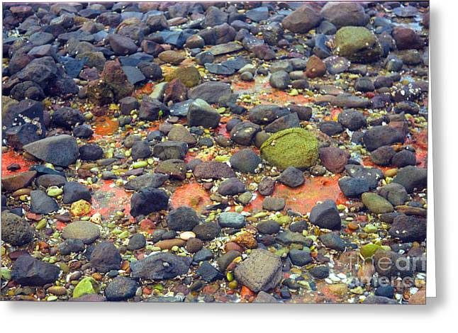 Greeting Card featuring the photograph Tinopoi Beach Rocks by Mark Dodd