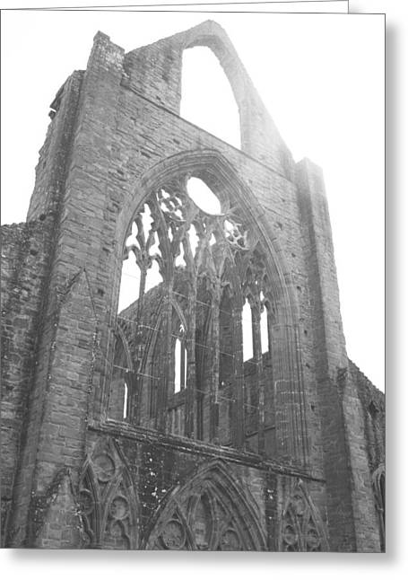 Tintern Abbey Window Greeting Card by Georgia Fowler