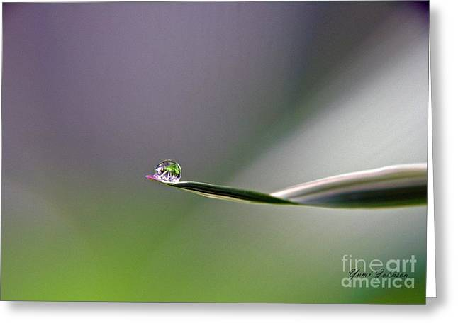 Greeting Card featuring the photograph Tiny Finger by Yumi Johnson
