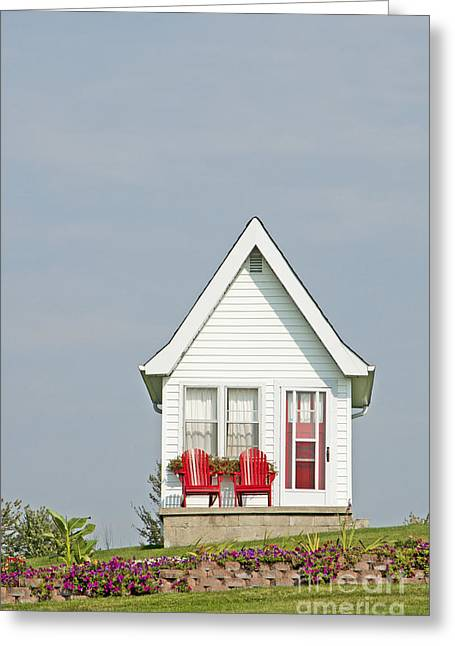 Tiny House Exterior Greeting Card by Marlene Ford