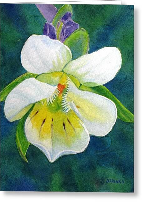 Tiny Wildflower Greeting Card by Debra Spinks